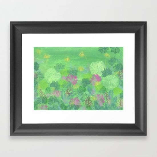 Geraniums Framed Art Print