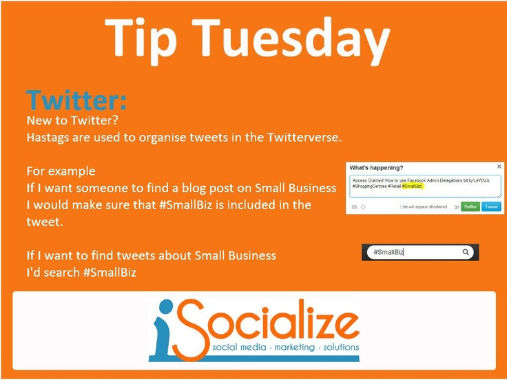What Twitter Hashtags are used for.    Visit www.facebook.com/isocialize for more social media tips each Tuesday.