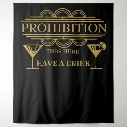 Art deco PROHIBITION wedding photo booth back drop Tapestry - wedding party gifts equipment accessories ideas