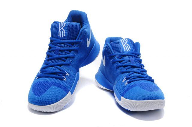 sale retailer f2d37 f3d35 Top Quality Nike Kyrie 3 EP III Irving Flyknit Royal Blue White Men s  Basketball Shoes Sneakers