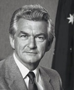 """Robert James Lee """"Bob"""" Hawke AC GCL (born 9 December 1929) is a former Australian politician and trade unionist who was the 23rd Prime Minister of Australia and the parliamentary leader of the Australian Labor Party (ALP) from 1983 to 1991. After a decade as President of the Australian Council of Trade Unions, he entered the House of Representatives as the Labor MP for Wills at the 1980 federal election. Three years later he led Labor to a landslide victory, and was sworn in as Prime…"""