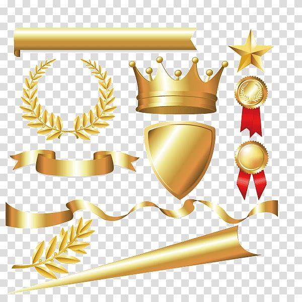 Gold Sword Shield Medals Star Ribbon Illustration Laurel Wreath Crown Bay Laurel Euclidean Metal Materia Laurel Wreath Crown Laurel Wreath Free Clip Art