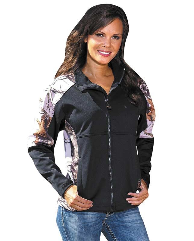 Share with your friends and receive a coupon for your next order! Yukon Gear Women's Black and Pink Mossy Oak Camo Windproof Jacket