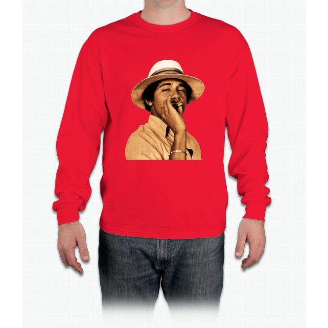young obama smoke classic Long Sleeve T-Shirt