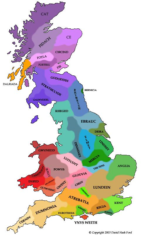 Map: Early British Kingdoms
