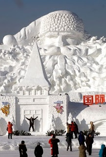 Hey Santa!..I have my list at the ready!!! ;) Harbin Internatinal Ice and Snow Festival from China