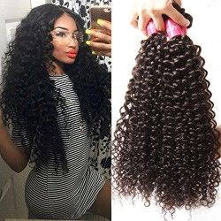 Best 25 curly human hair extensions ideas on pinterest human longqi 7a grade brazilian curly virgin hair 3 bundles remy brazilian sexy curly human hair extensions pmusecretfo Image collections