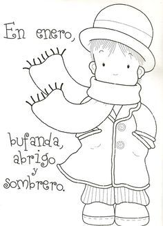 Spanish rhyme for each month of the year. Teaches Spanish months and Spanish vocabulary. Poesías y rimas infantiles de los meses para niños