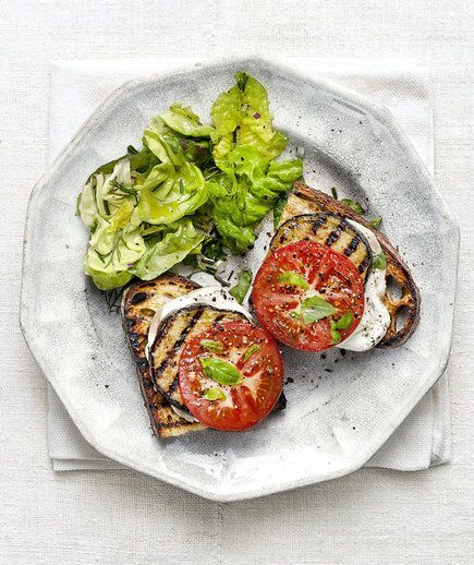 Eggplant And Smoked-Gouda Open-Faced Grilled Sandwiches Recipe ...