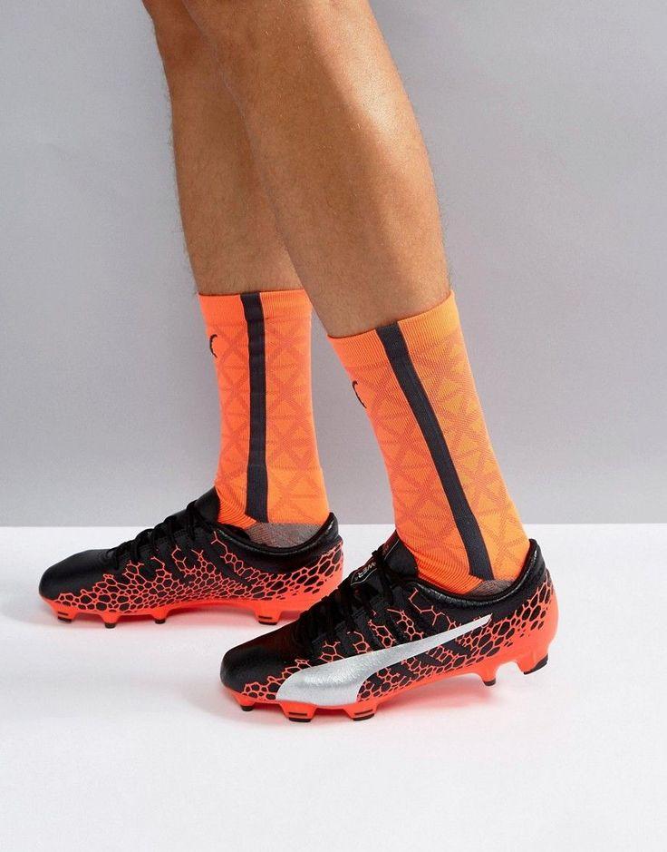 Puma evoPOWER Vigor 4 Firm Ground Graphic Soccer Boots In Black 104422