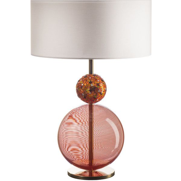 Serena Luxury Mosaic Infinito Orange Table Lamp ($13,190) ❤ liked on Polyvore featuring home, lighting, table lamps, orange, murano lamp, mosaic table lamp, orange light, orange lighting and mosaic lamps