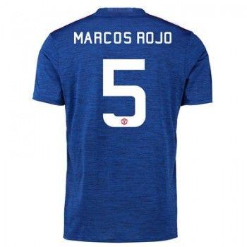 Manchester United 16-17 Marcos Rojo 5 Bortatröja Kortärmad   #Billiga  #fotbollströjor