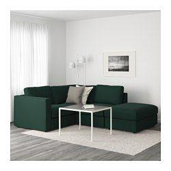 IKEA - VIMLE, Hoekbank, 3-zits, met open eind/Gunnared beige, , Van deze lekkere, zachte bank kan je lang plezier hebben. De zitkussens zijn gevuld met hoogelastisch schuim, dat het lichaam comfortabel ondersteunt en zijn vorm snel weer terugkrijgt als je opstaat.De voetenbank heeft extra opbergruimte onder de zitting - handig voor al die kleine spulletjes die je thuis hebt.De bekleding is afneembaar en machinewasbaar, en dus eenvoudig schoon te houden.Gratis 10 jaar garantie. Raadpleeg ...