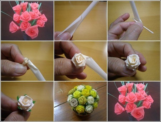 Pin Oleh Anugrah Yuni Di Kreasi Dari Sedotan Kreatif Bunga Buatan Bunga