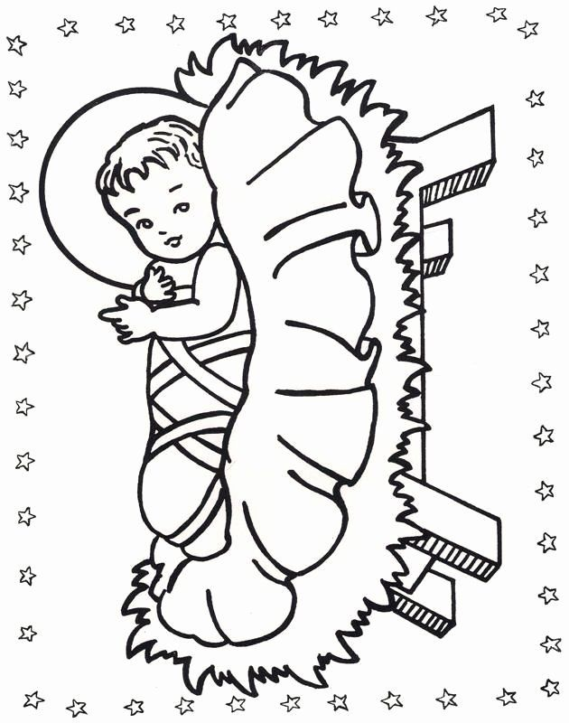 47++ Baby jesus in manger coloring page download HD
