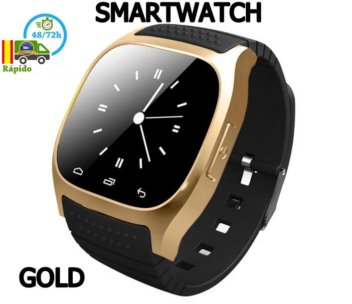 RELOJ INTELIGENTE SMART WATCH DORADO RELOJ MOVIL SMARTWATCH ENVIO ESPAÑA