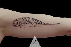 chameleon for Anne/ Axel Ejsmont Tattoo Berlin #tattoo #berlin #geometry