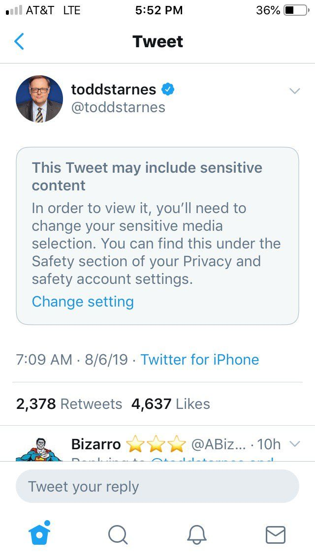 Twitter Targets Todd Starnes Labels Content As Sensitive Todd Starnes Sensitive Content Television Anchor