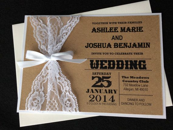 abby 100 rustic lace wedding invitations white lace wedding invitation white rustic wedding invitation white wedding invitation