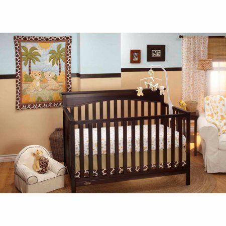 Disney Baby Bedding Lion King Jungle Fun 3-Piece Crib Bedding Set, Green