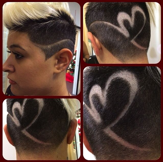 heart surf slash hair design