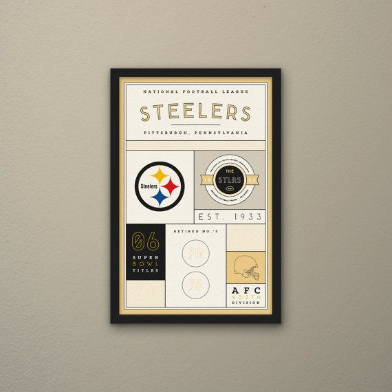 Pittsburgh Steelers Stats Print by PortlySportsman on Etsy