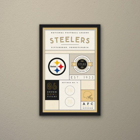 Pittsburgh Steelers Stats Print by PortlySportsman on Etsy