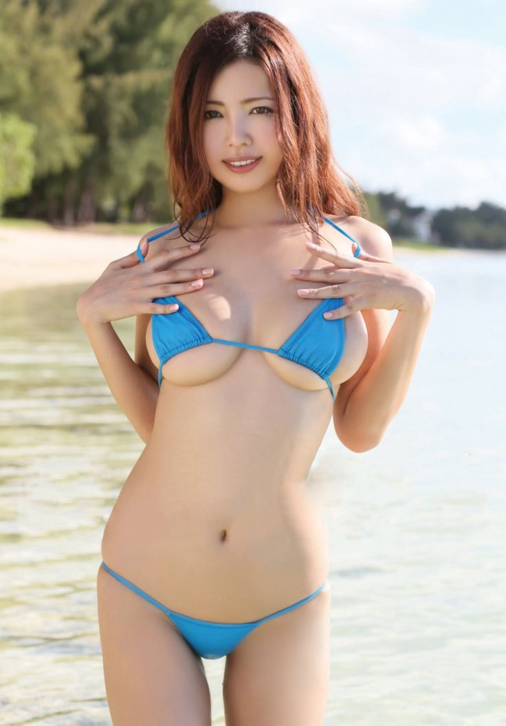 Asian women swim suit models congratulate, you