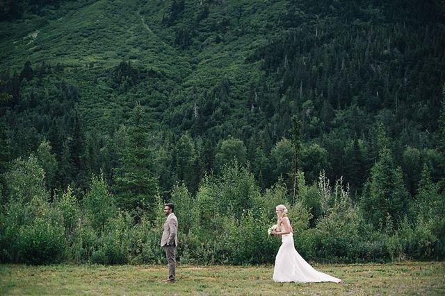 Alaska Wedding First Look Photography / The Inn at Tern Lake