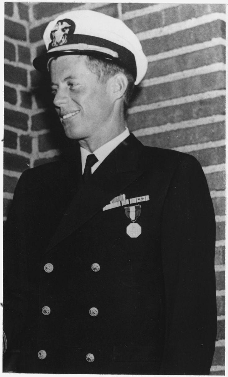 John Kennedy Navy  Of Lieutenant John Fitzgerald Kennedy In Navy Uniform  Wearing Navy