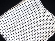 "Available now for is a US Seller New 10"" 100% Silk Pocket Square Men's Handkerchief White/Black Polkas"