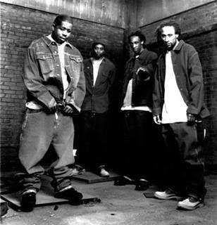 Brand Nubian, (Grand Puba, Sadat X, Lord Jamar, DJ Alamo, and DJ Sincere).