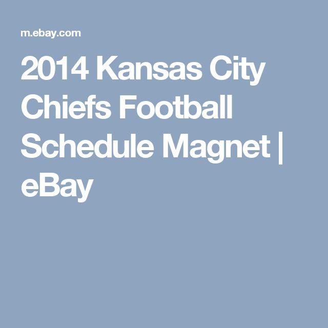 2014 Kansas City Chiefs Football Schedule Magnet | eBay https://www.fanprint.com/licenses/kansas-city-chiefs?ref=5750