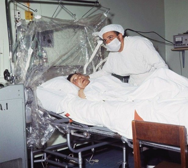 First human heart transplant. Dr. Christiaan Barnard is shown after performing…