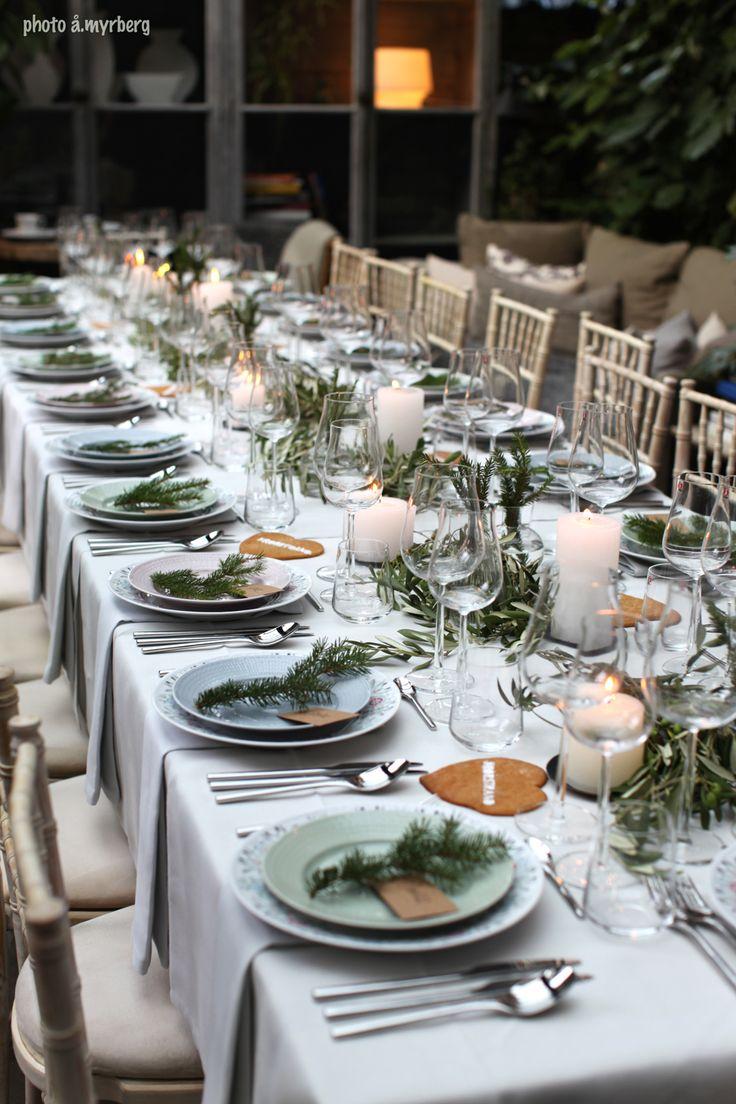 table setting Rörstrand Swedish Grace winter