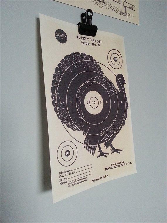 1950's Turkey Target  Vintage Sears Roebuck & Co. by PunchJunk, £7.00