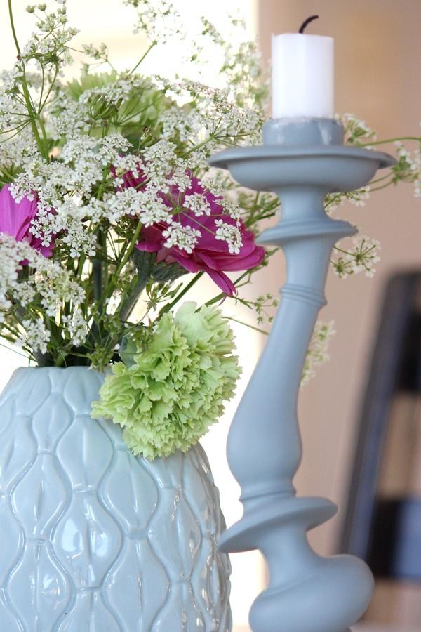 Et Nytt Kapittel - flowers, candle, livingroom