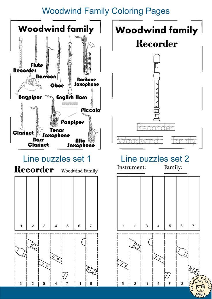 Woodwind Instruments Line Puzzles * Anastasiya Multimedia