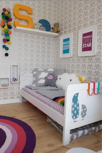 A little too much pattern on the wall but everything else is cute!