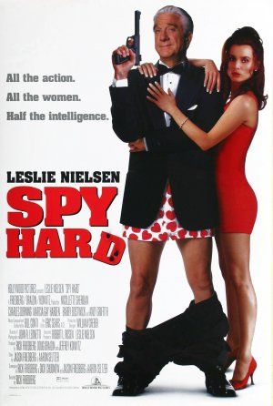 Spy Hard is a 1996 American spy comedy film parody starring Leslie Nielsen and Nicollette Sheridan, parodying James Bond films and other action films. Description from imgarcade.com. I searched for this on bing.com/images