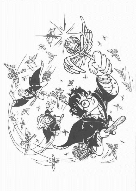 17 best images about coloriage hp on pinterest coloring harry potter illustrations and hedwig harry potter