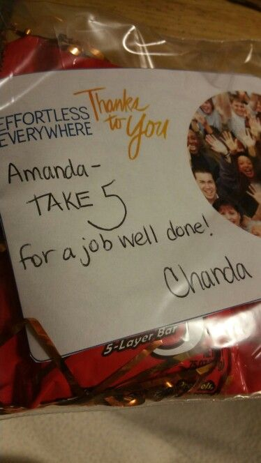 Take 5 candy bars for Customer Service appreciation week
