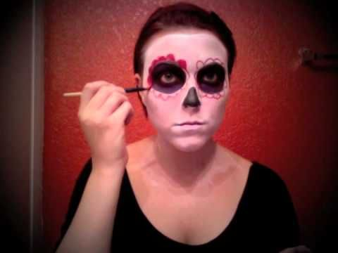 Easy day of the dead makeup