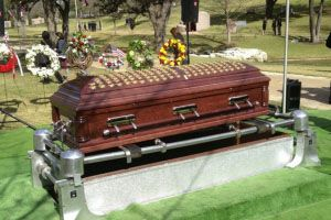 Chris Kyle's casket.