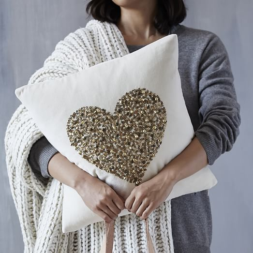 St. Jude's Embellished Jingle Pillow Cover - 50% of purchase price goes directly to St. Jude Children's Research Hospital