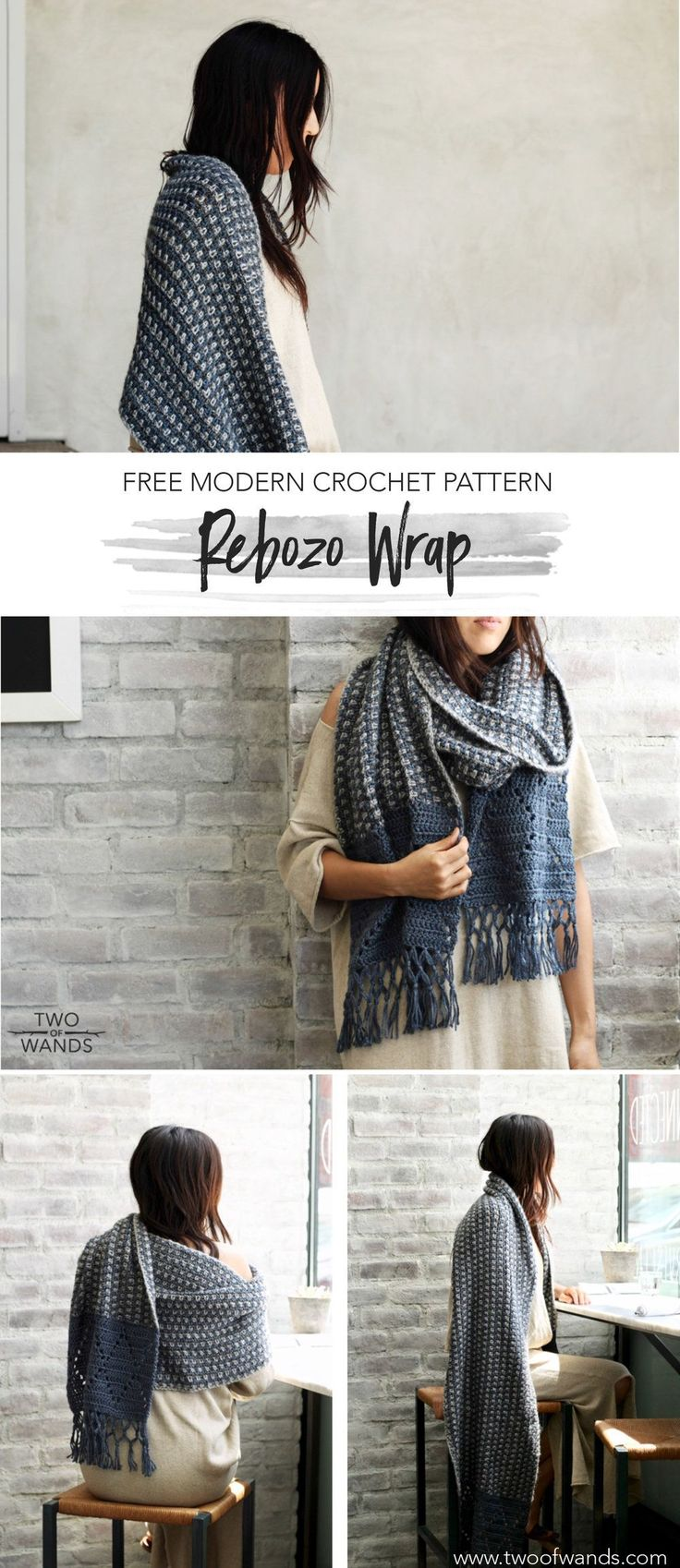 Rebozo Wrap - free crochet pattern by Alexandra Tavel at Two of Wands.