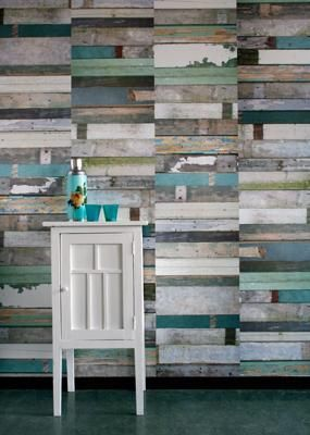 Can't get enough of these repurposed wall boards and the color turquoise. Wow.