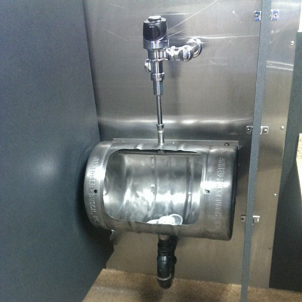 Should the man cave have a beer keg urinal?? Is that too over the top?