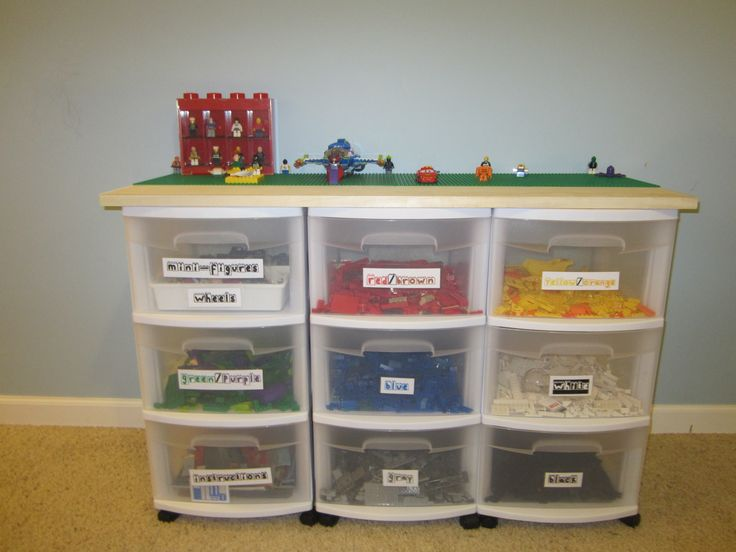 homemade lego table wstorage thinking of doing this in cadens room