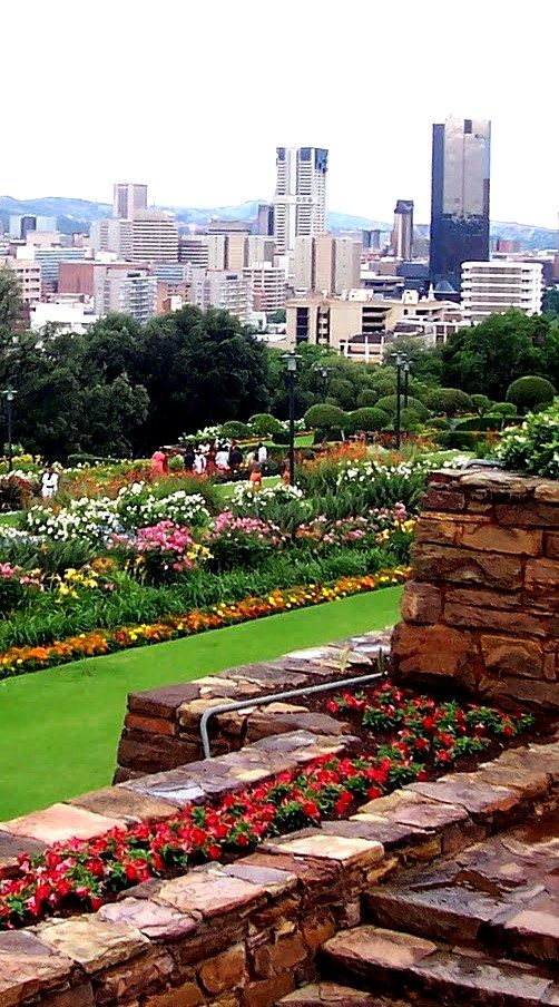 Pretoria and the gardens in front of the Administrative Capitol Building - South Africa